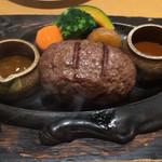 炭焼きレストランさわやか - げんこつハンバーグ(200g)