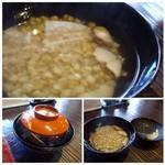 67706415 - ◆そば粥・・椎茸のお出汁が良く出ていていいお味。