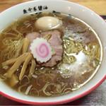 67706602 - 醤油らー麺750円+麺中盛100円+味玉(サービス券)