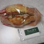 タリーズコーヒー - 20170527 チーズブレッド(ラタトゥイユチキン) 370円