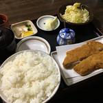 ぶるどっぐ - 料理写真:ロースかつ(中 160g)定食 1350円 + ご飯大盛り(お値段は失念)