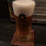 麺やBar 渦 - だれやめセットのビール