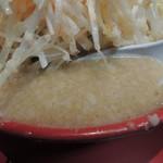 らーめん弁慶 - 味噌ラーメンのスープ