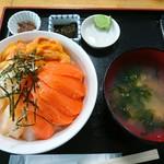 北のにしん屋さん - 三色丼(日替り)(1600円)