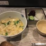 韻松亭 - 雑炊&香の物