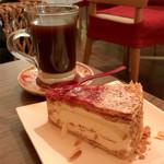 ミューズ カフェ - 木苺のミルフィーユとベトナムコーヒー
