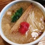 鶏の穴 - オニオンスープのつけ麺「Orion」(2017年05月限定)