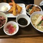 花笠食堂 - 海老フライ定食   ¥1000