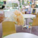 道の駅 七城メロンドーム アイスコーナー - メロンソフトクリーム