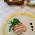 コルニーチェ -    前菜 鴨肉と水菜