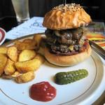 ばず - おまかせバーガー+ポテトとドリンクのセット