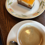 煉瓦屋 - 料理写真:デコポンショコラとソフトエスプレッソ(2017.05現在)