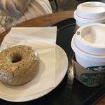 スターバックスコーヒー - ドーナツシェアで軽い朝食