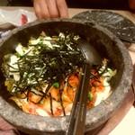 葵屋 - 【2017.5.28(日)】石焼肉味噌チーズビビンバ880円