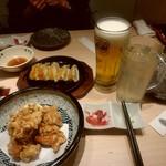 葵屋 - 【2017.5.28(日)】注文した料理と飲み物