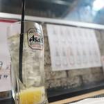 海鮮居酒屋 海ごころ - レモンサワ