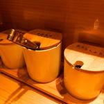田中屋 - 卓上の調味料
