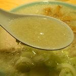 田中屋 - 中華そば(こってり)のスープ