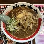 竹本商店 つけ麺開拓舎 - 焙煎醤油ラーメン、740円です。