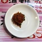 竹本商店 つけ麺開拓舎 - 辛味プラス120円です。