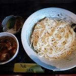 石庭こまち - 料理写真:肉汁ざるうどん