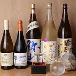 日本酒:豊富に取り揃えております。