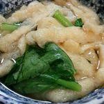 金田 - 小松菜と油揚げ煮