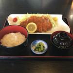 67732201 - 『 信州産かつ定食/ロース200g 』1,350円(税別)