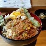てんぷら阿部 - 2017.5)かき揚げ丼(1000円)