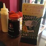 広島焼 HIDE坊 - マヨ&おたふくソース