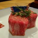 焼肉すどう - ◆長崎産:黒毛和牛フィレステーキ。 お肉が美しい、これは美味しいでしょう。