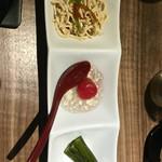 chuukadainingusaien - 前菜3種