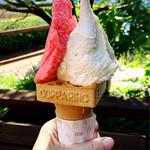 アイス工房ヴェルデ - 苺シャーベットとミルクティーアイス