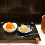 旬楽幸味 - デザートに、苺と自家製わらび餅(2017.5.29)
