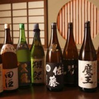 厳選した日本酒、焼酎、ワインなど各種取り揃えております。