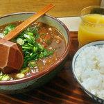 藪庵 - カツカレー(竹)&ライス