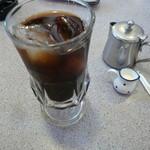 出発 - セットに付くアイスコーヒー