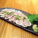 王どりー - 新鮮地鶏たたき三品盛り合わせ