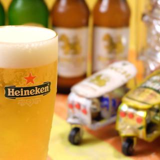 タイならではのビールやソムリエ厳選ワイン