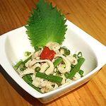 王どりー - 鶏皮ねぎポン酢