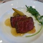 THE GARDEN ORIENTAL OSAKA - 褐毛あか牛のロースト 旬の野菜を添えて