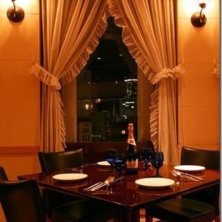 神戸大丸9階からの夜景を眺めながら…贅沢ディナー♪