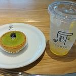焼きたてチーズタルト専門店PABLO - mini抹茶タルト230円 スカッシュレモネード350円
