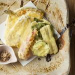 新潟 食楽園 - 鱚と夏野菜の天麩羅