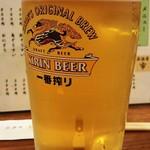 居酒屋市 - 「生ビール」(500円)