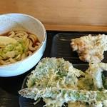 かばと製麺所 - ぶっかけ冷と天ぷら