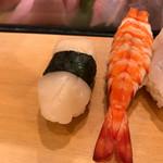 柳鮨 - 帆立って美味しいけどあんまり好きじゃ無い(┯_┯)今度別のにしてもらおー\(^o^)/