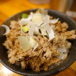 つけ麺 井手 - ほぐし豚飯