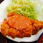 Tachibanaudon - 本日の定食。             メインはチキンカツです。