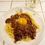Hachi Cafe - カルボナーラ風カレーパスタ